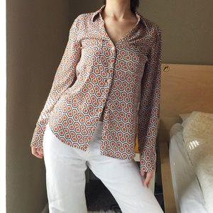 Express Geo Printed The Portofino Shirt.-Y7.